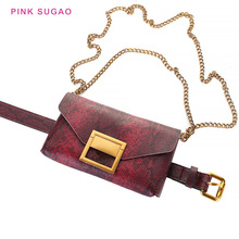 PinkSugao fanny pack women chest bag leatehr for waist crossbody shoulder with chain belt purse