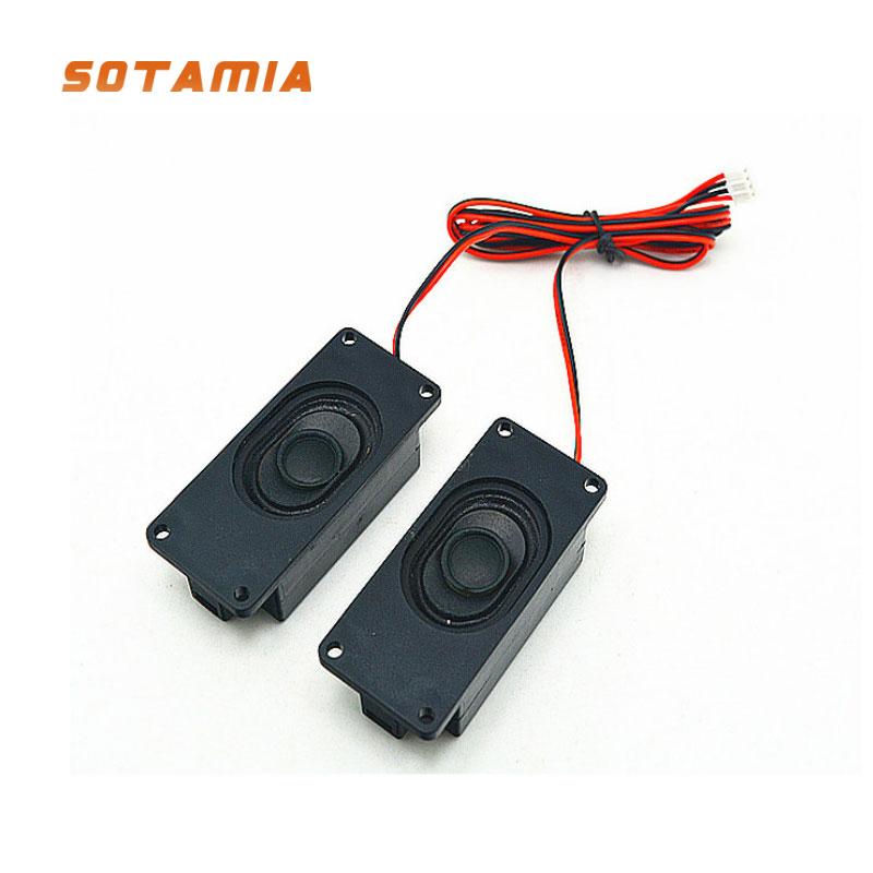 "10pcs 2/""inch 52mm 8Ohm 10W Full-range speakers Square Dual magnet Loudspeaker"