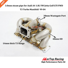 цена на MERTOP RACING A4 1.8L Turbo Manifold JE tta G olf G TI FWD Turbo Header With 38mm Wastegate Port 3.0mm Steam Pipe 1999-2004