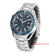Bezel-Insert Homage Blue Watch Dial Hands Ceramic Sapphire Crystal Stainless-Steel Sea-Ocean