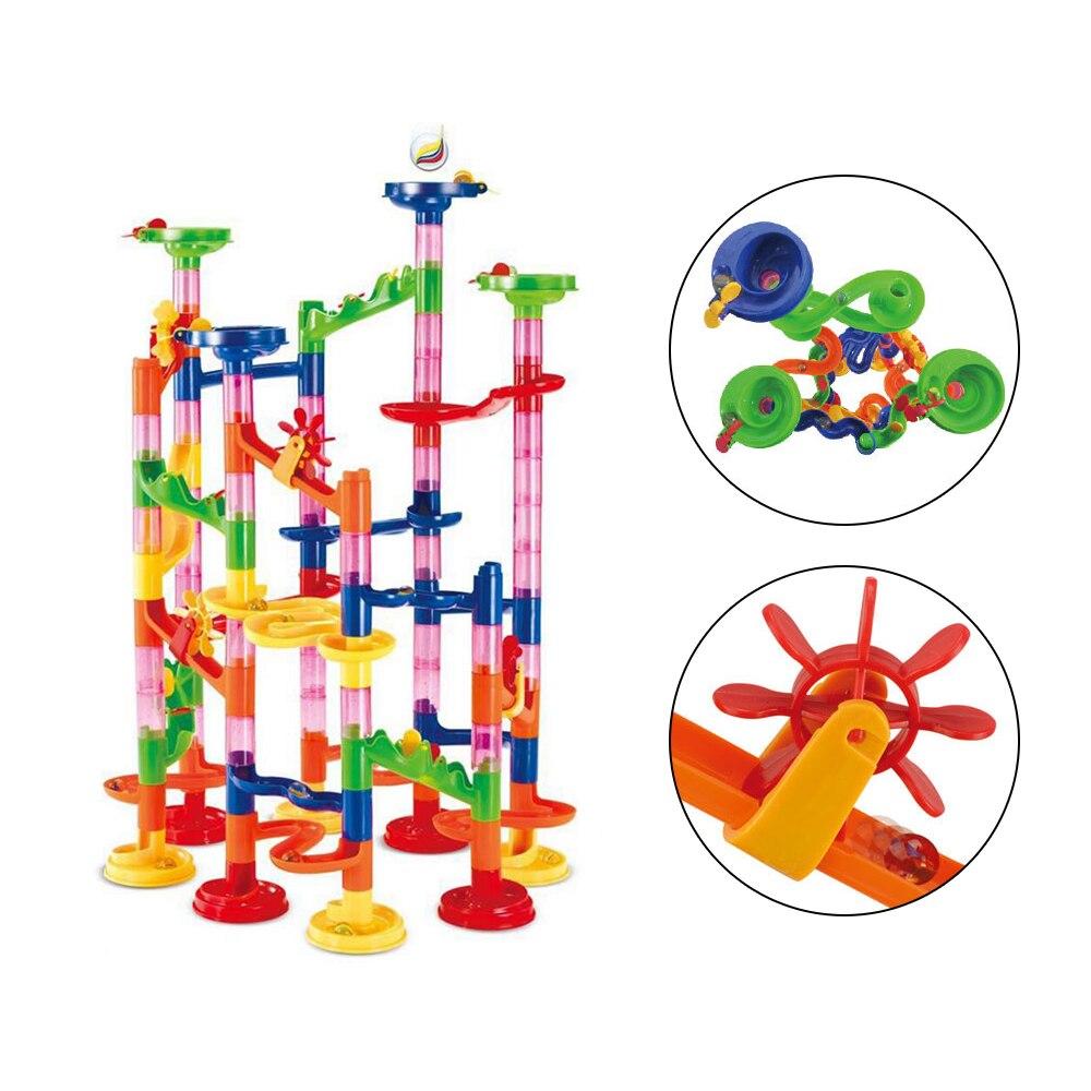 105 Pcs/Set Marble Tracks Baby Circuit Marble Race Run Maze Children Building Pipe Blocks Preschool Educational Toys Kids Gifts