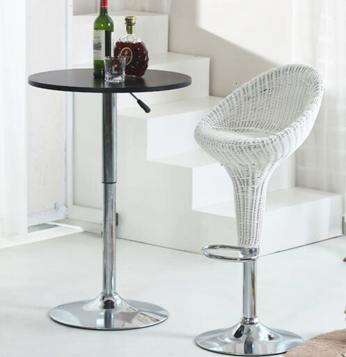 Купить с кэшбэком Quality Creative Lifting Wicker Chair Braided Swivel Bar Chair Stool Bird Nest Shaped Bar Stool Ergonomic Adjustable Height