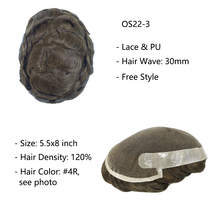 Clearance - Lace Hair System Indian Hair Prosthesis for Men Lace & PU Men Toupee