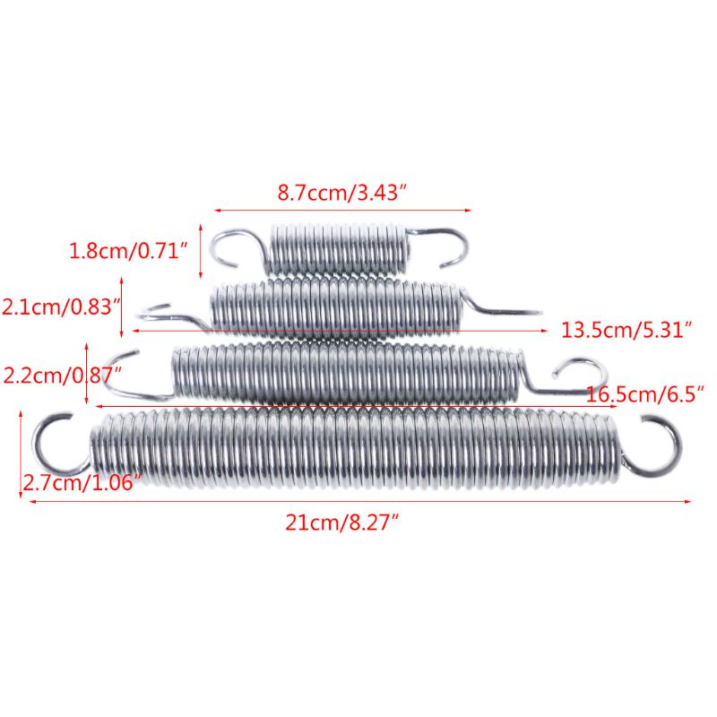 8-21cm High Quality Stainless Steel Spring For Circular Trampoline Replacement 37MD