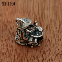 Fashion Witch Charms Beads Silver 925 Original Fit Brand Bracelet Jewelry Vintage Bead for Making