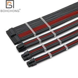 Image 3 - Cơ Bản Nối Dài Bộ 4Mm Thú Cưng 24Pin ATX 1 Cái CPU 8Pin 4 + 4Pin 1 Cái GPU 8Pin 1 Cái GPU 6Pin PCI E Điện Nối Dài