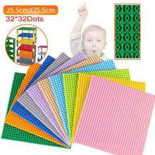BaseplatesDouble taraflı 32*32 nokta yüksek kaliteli çocuklar için küçük tuğla DIY yapı taşları taban plakası uyumlu tüm markalar blokları