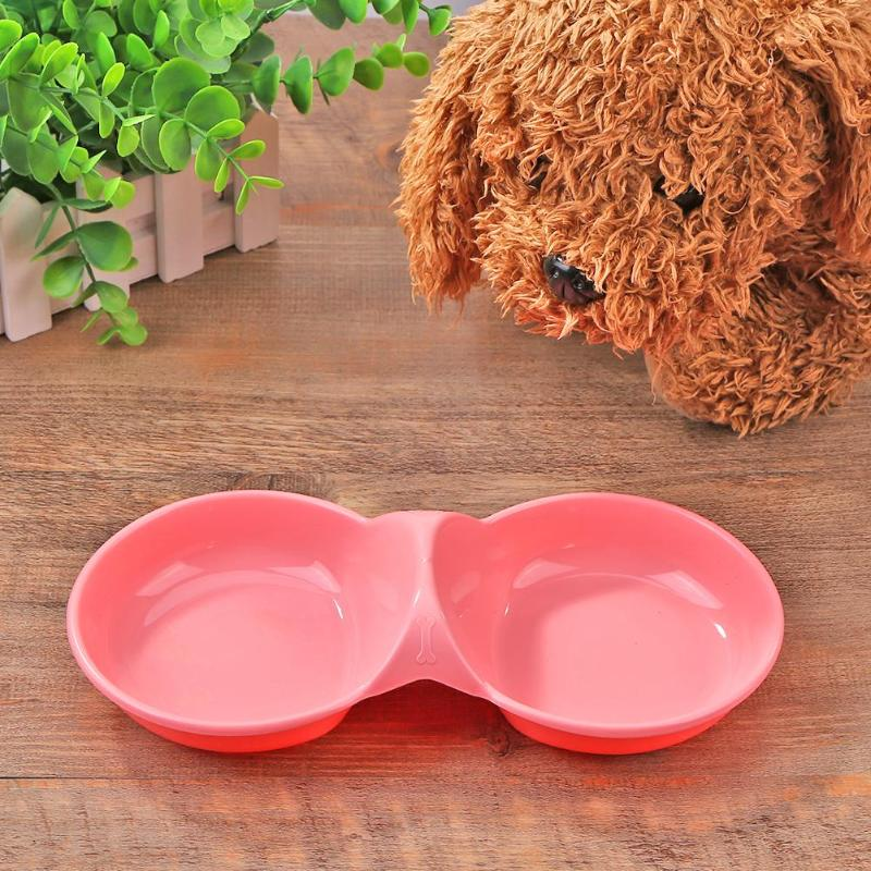 Dog Cat Bowl Puppy Food Water Feeder Pets Drinking Feeding Dishes Portable Outdoor Food Plate Pet Double Bowl Dropshipping
