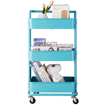 3 Tier Storage Cart Trolley Save Space Kitchen Organizer shopping cart organizer with wheels Household Stand Holder kitchen cart