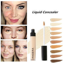 PHOERA Makeup Concealer Long Lasting Pore Acne Ful Cover Face Contour Corrector Cosmetics Make Up Liquid Foundation