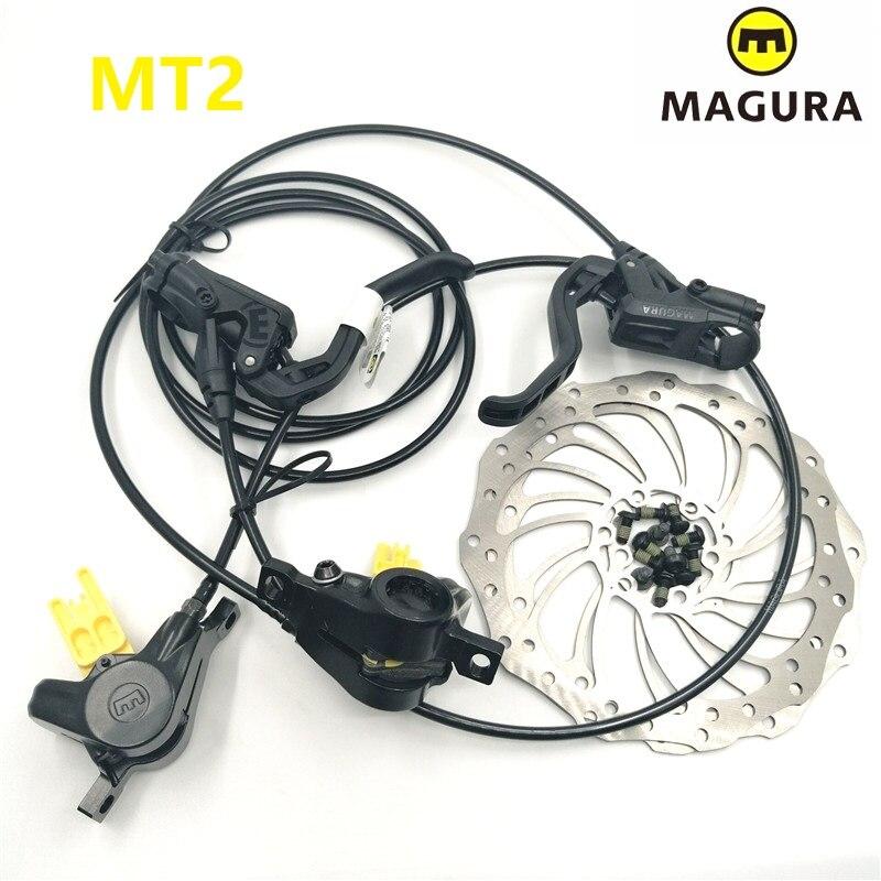 Original MAGURA MT2 vélo avant arrière hydraulique Diac levier de frein et étrier vtt VTT frein à huile avec Rotor de frein 160mm