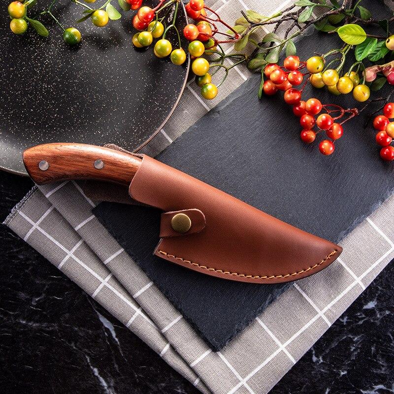 Обвалочный нож ручной работы, кованые кухонные ножи для шеф-повара, инструменты для барбекю, мясник, мясник, уличные походные гаджеты для до...