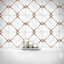 10Pcs Geometric Tile Sticker Waterproof Wear-Resistant Marble Matte  crystal wall Stickers marble tile stickers