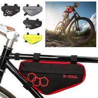 방수 산악 자전거 삼각형 가방 자전거 프레임 앞 튜브 가방 프레임 홀더 안장 가방 산악 자전거 삼각형 주머니