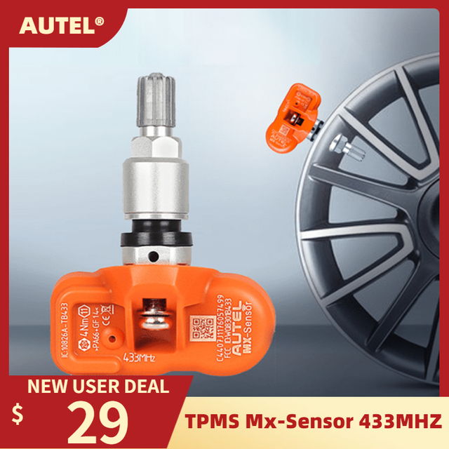 Autel Tire Pressure Monitoring Sensor MX Sensor 433MHZ Universal Programmable TPMS 433MHz For Ford for BMW for Land Rover more