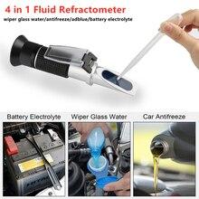 Réfractomètre universel pour moteur de voiture, antigel, fluide, électrolyte, densité de batterie, verre, testeur dhydromètre