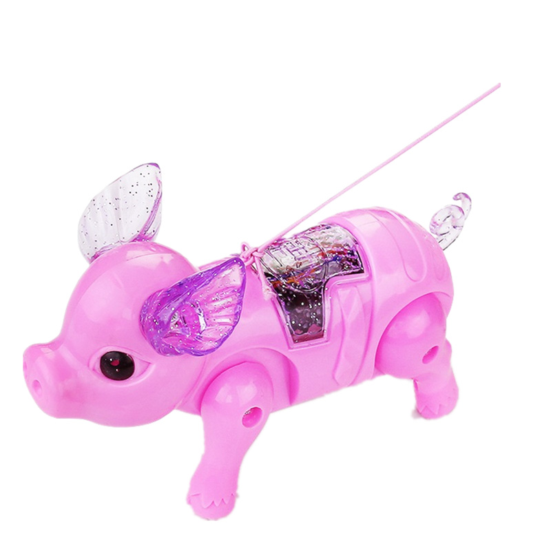 Hot Cute Electric Music Walking Pig Toys LED Light Glow Electronic Pets Lantern Toy Children Kids Baby Girl Boy Educational Toys