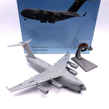 1:200 1/200 Scale US C-17 C17 Globemaster III Strategy Transport Aircraft Diecast Metal Airplane Plane Model Children Toy trumpeter 1 48 scale us c 47a c 48c skytrain transport plane airplane aircraft toy plastic assembly model kit