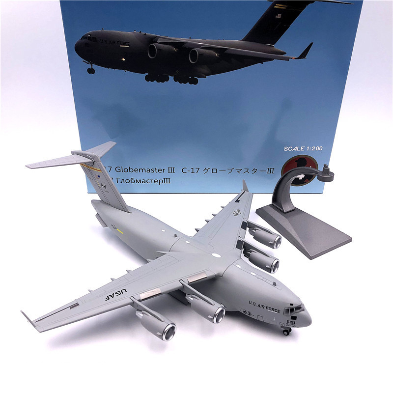 1:200 1/200 Scale US C-17 C17 Globemaster III Tactical Transport Aircraft Diecast Metal Airplane Plane Model Children Toy