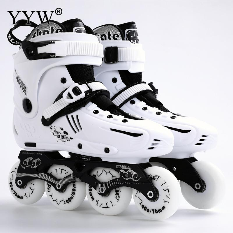 Professional Inline Skates Slalom Adult Roller Skating Shoes Good As Sneakers Wheels Shoes Sliding Free Skate Patins Size 35-46