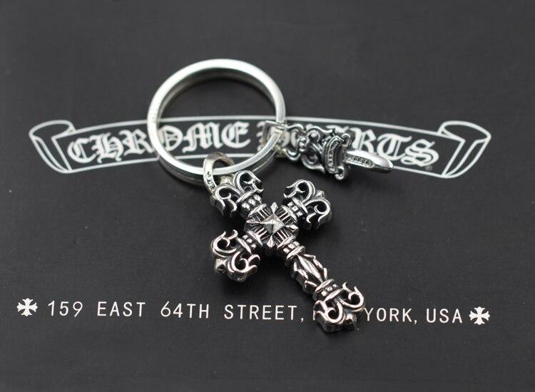 S925 Стерлинговое Серебро, мужской брелок, персональный, классический, в стиле панк, хип хоп, кресты, кинжалы, модельные подарки для отправки, ювелирные изделия для влюбленных - 2