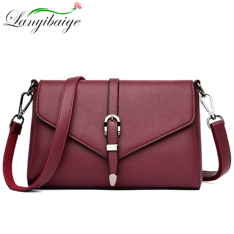 2020 New Women PU Leather Crossbody Bags For Ladys Luxury Brand Handbag 5 Colors Fashion Shoulder Bag Sac A Main Messenger Bag