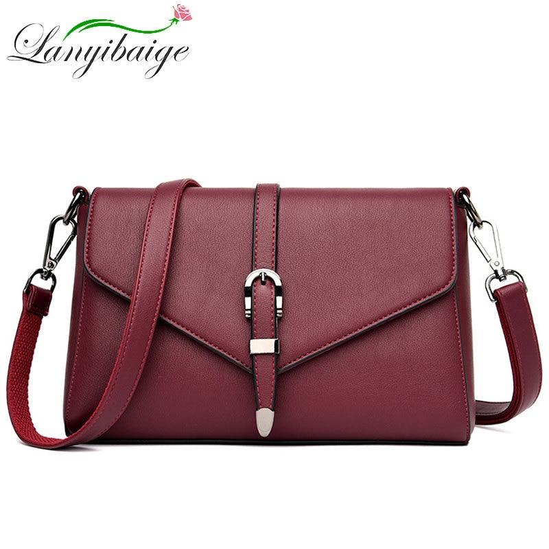 2020 New Women PU Leather Crossbody Bags For Ladys Luxury Brand Handbag 5 Colors Fashion Shoulder Bag Sac A Main Messenger Bag