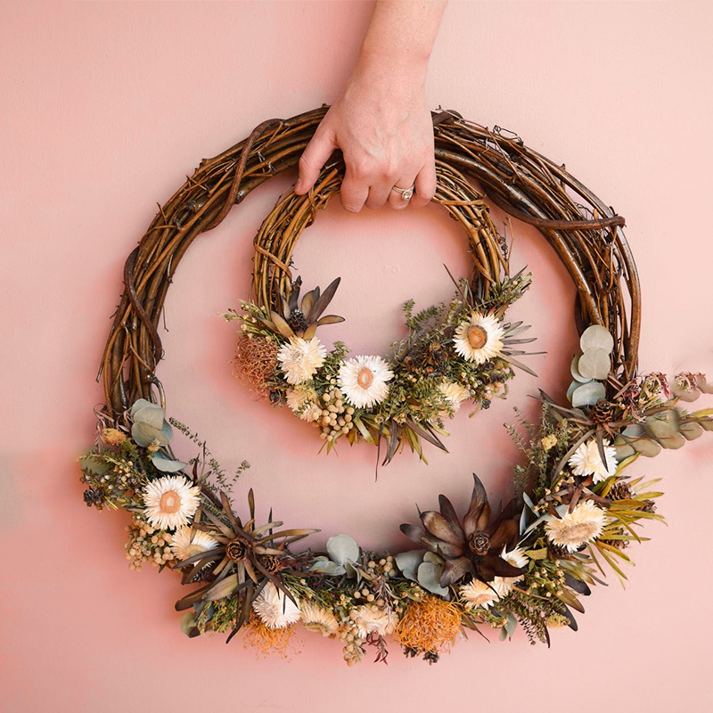 1pcs Wedding Decoration 10-30cm Wedding Wreaths Christmas Party Decoration Garland Material Rattan Wreath DIY Wreath Party