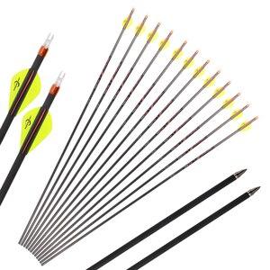 Image 1 - Toparchery, 32 дюйма, позвоночник, 300/350/400, чистый углерод, диаметр стрелы 6,2 мм, стрелы для стрельбы Achery, изогнутый лук, для охоты на открытом воздухе