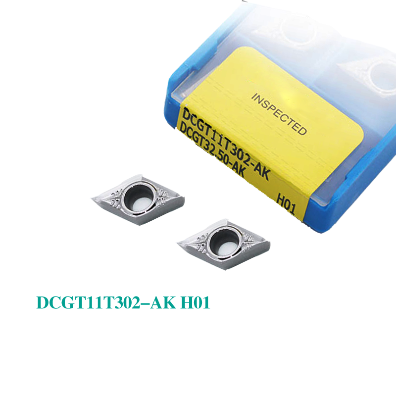 DCGT11T302 DCGT11T304 DCGT11T308-AK H01 100% original Carbide Insert Milling Cutter Aluminum CNC Lathe Tool Aluminum Processing