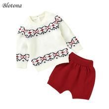 Blotona/Рождественский комплект из 2 предметов для новорожденных