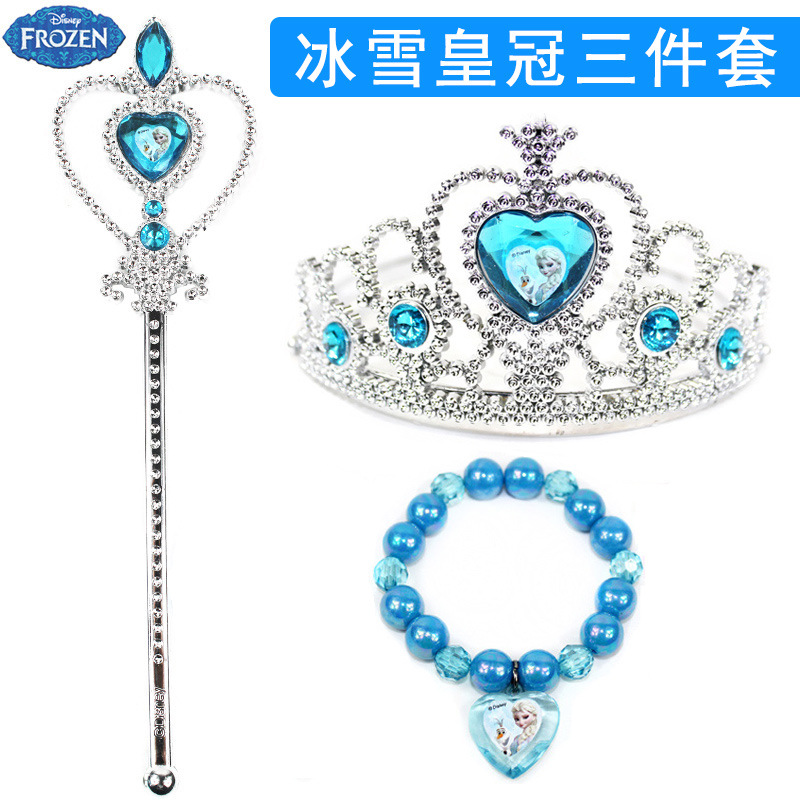 Disney Girls Frozen Elsa Princess Crowns Hairband Birthday Set With  Original Box Kids Hair Head Hoop For Kids Gift