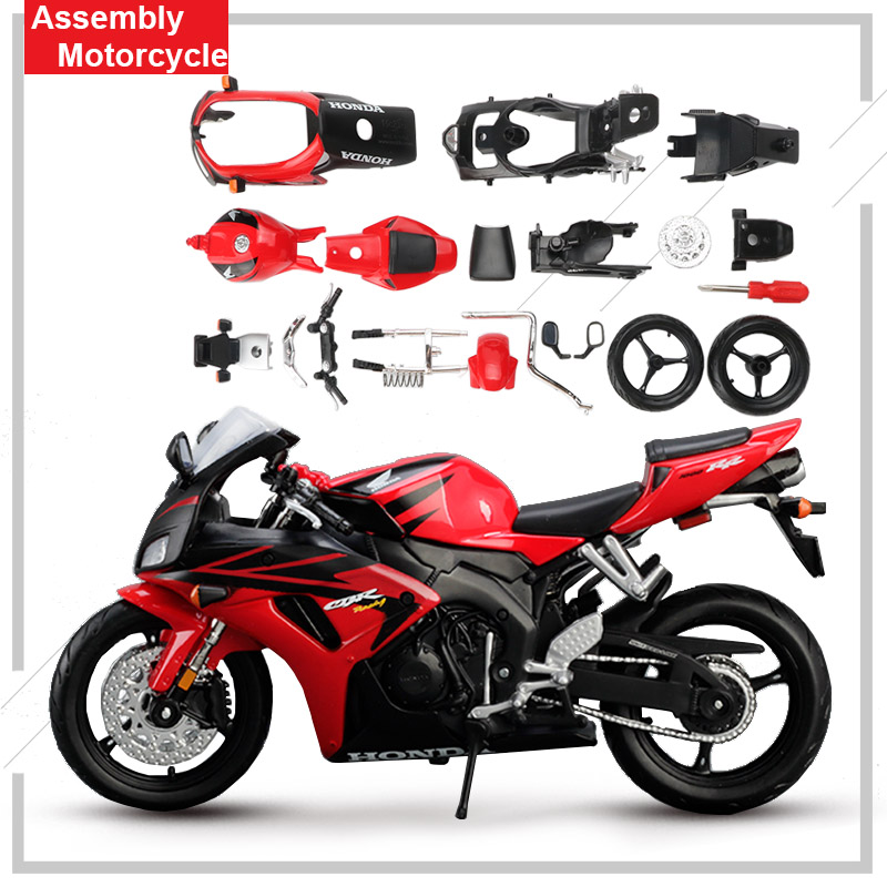Maisto 1:12 Alloy Motor Bicycle Model Puzzle Toy Assembly Motorbike CBR 1000RR Collection Decoration Toys For Children