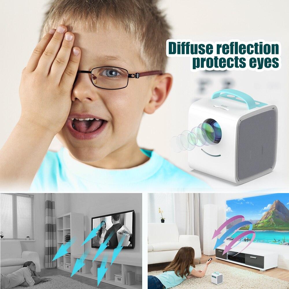 Salange q2 mini projetor led, 700 lumens pico projetor hdmi porta av usb portátil crianças projetor história para o presente de natal-5