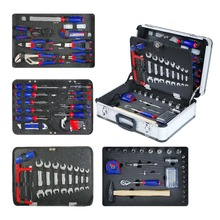 119-piece aluminum alloy toolbox set household tool set hand tool screwdriver set wrench pliers woodworking value 7in1 vtb 5a refrigeration repair tool set with aluminum alloy box refrigeration toolbox set flare device vacuum pump