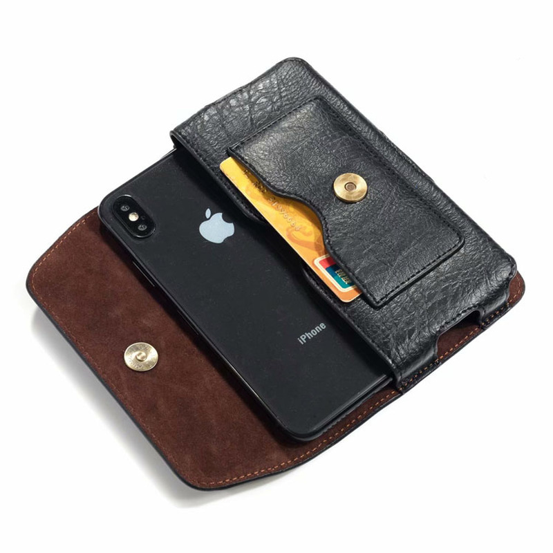 Universal Leather Holster Belt Clip Pouch Mobile Phone Bag For Samsung A21S A31 A41 A51 M11 A11 M01 A01 Case Men Waist Bag Purse
