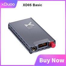 Xduoo xd05 básico auscultadores amplificador ak4490 500mw saída hd digital de áudio usb dac pcm 384khz dsd256 para o jogo do filme de pc