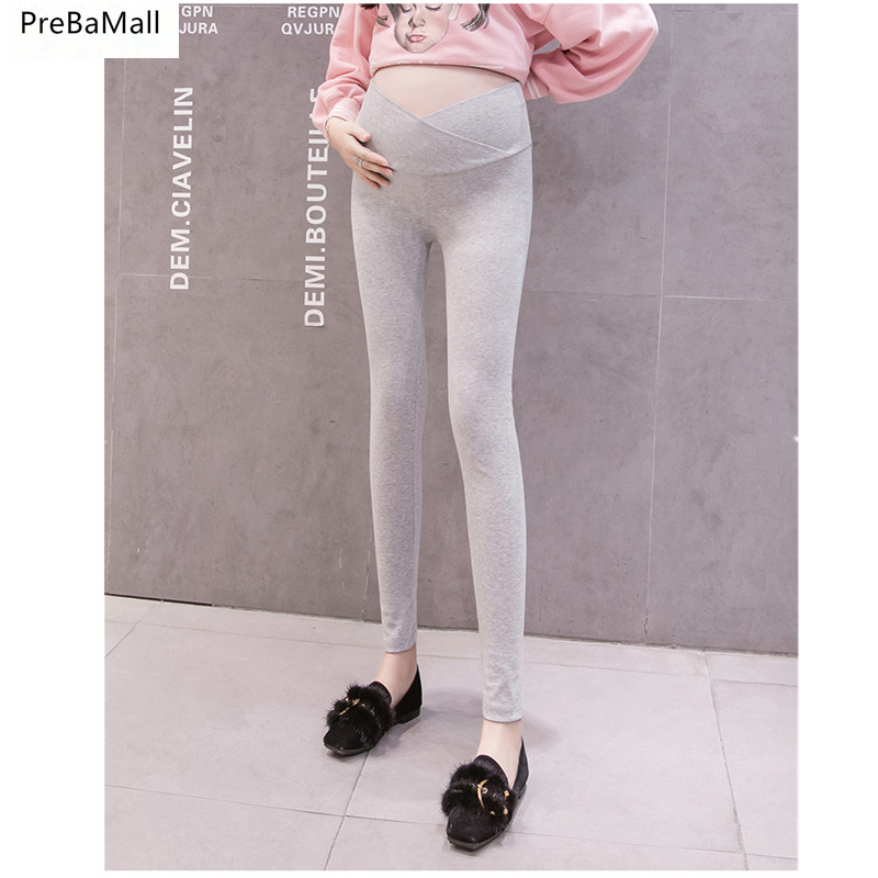 Maternity Leggings Low Waist Pregnancy Belly Pant For Pregnant Women Maternity Nursing Thicken Trousers Maternity Clothing E0044
