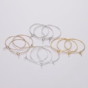 50pcs/lot Diameter 20 25 30 35mm Gold/Rhodium Ear Wire Hook Earring Loop Hoops For DIY Earrings Jewelry Making Findings