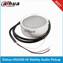 Dahua аудио звукосниматель DH-HSA200 Hi-fidelity Аудио звукосниматель микрофон для DH& HIK аудио и сигнализации камеры