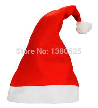 1 szt Nowy rok czapka świąteczna czapki św Mikołaja czerwona i biała bluzka świąteczna czapka na kostium świętego mikołaja dekoracje świąteczne dla dorosłych tanie i dobre opinie CN (pochodzenie) Tkaniny Christmas hat