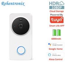 Works with Alexa Google Chromecast 1080P Battery Powered Smart WiFi Smart Video Doorbell