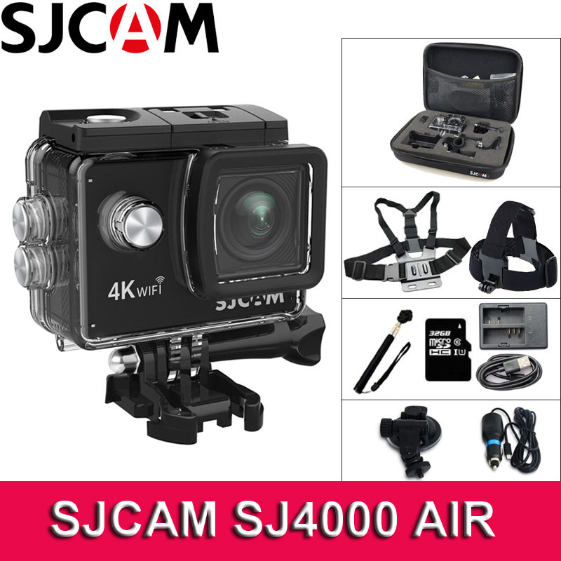 SJCAM SJ4000 AIR Action Camera WiFi 4K Deportiva 2.0 inch LCD Screen 30m Waterproof Housing Mini Helmet SJ 4000 Cam Sport Camera