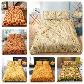 burger chicken roll set de cama 3d bedding set king size bed linen set home textiles pizza comforter set queen
