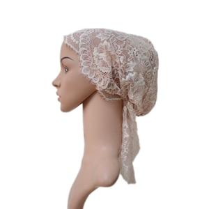 Image 2 - Turbante musulmán para mujer, gorro interior árabe de encaje, sombrero islámico para quimio, funda, gorro con flor, gorro para la caída del pelo, gorro de cola larga suave