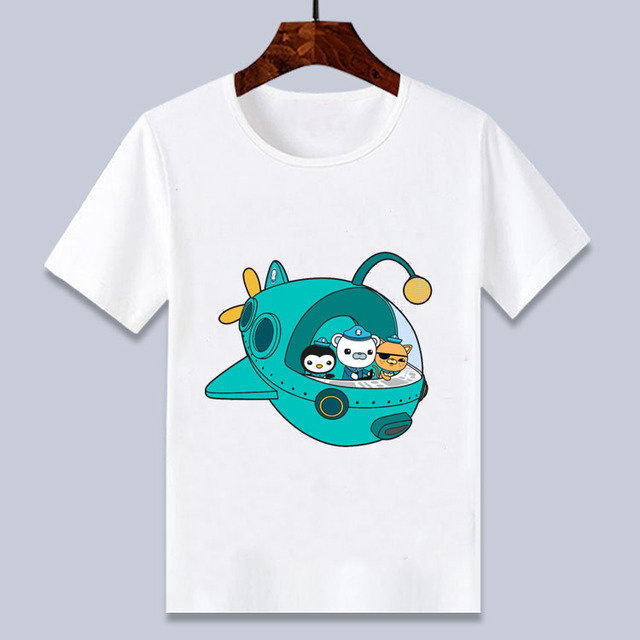 Cartoon Anime Octonauts White Barnacles Kwazii Peso Shellington T Shirt For Boys And Girls 4 6 8 10 12 14t T Shirts Aliexpress
