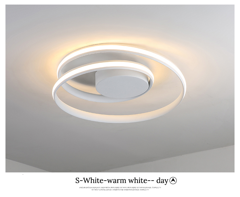Hc702e5165d054ac88a569b61e51e4ac4d Modern Ceiling Lights LED Lamp For Living Room Bedroom Study Room White black color surface mounted Ceiling Lamp Deco AC85-265V