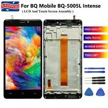 """5.0 """"BQ 휴대 BQ 5005L 용 BQ 5005L BQ5005L 강렬한 LCD 디스플레이 + 터치 스크린 디지타이저 어셈블리 + 프레임 교체 + 도구"""