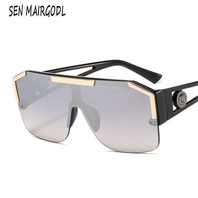 الرجال الفاخرة سيامي مربع النظارات الشمسية للنساء 2020 معدن الأسد الملك ديكور تصميم نظارات شمسية نظارات الشاطئ الرياضية uv400