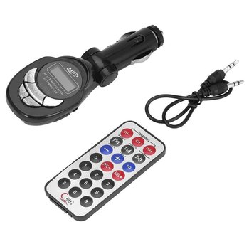 4 in 1 Car Vehicle MP3 Player Wireless FM Transmitter Audio Modulator USB CD MMC With Remote Control image